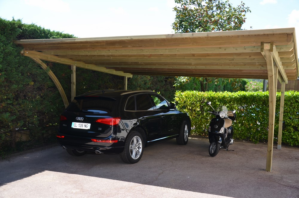 abri voiture abri voiture aluminium carport toit arrondi achatvente pas cher abri monopente. Black Bedroom Furniture Sets. Home Design Ideas